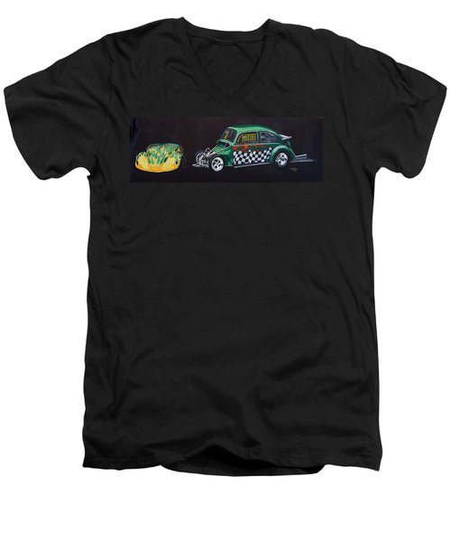Drag Racing Vw Men's V-Neck T-Shirt