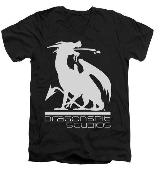 Dragon Spit Studios Logo Men's V-Neck T-Shirt