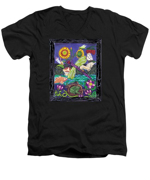 Dragonfly And Unicorn Men's V-Neck T-Shirt