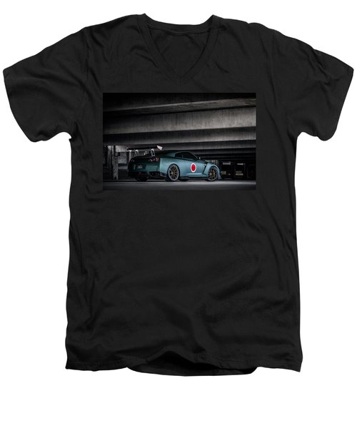 Dragon's Lair Men's V-Neck T-Shirt by Douglas Pittman