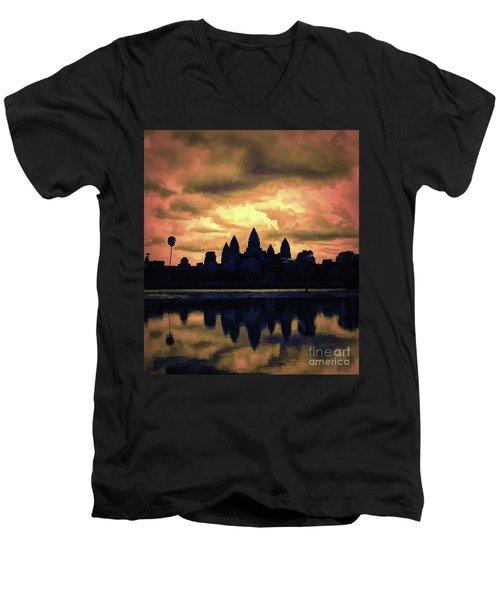 Dramatic Angkor Wat  Men's V-Neck T-Shirt