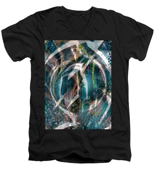 Dimension In Space Men's V-Neck T-Shirt by Yul Olaivar