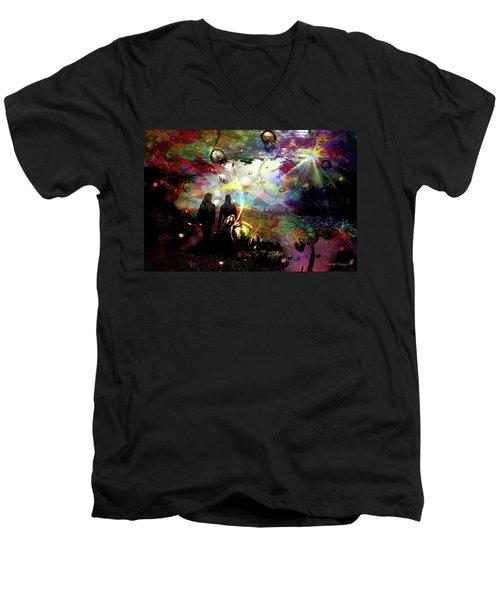 Dream Walking Men's V-Neck T-Shirt