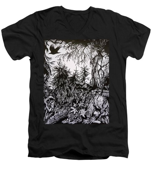 Dreaming Alaska.part One Men's V-Neck T-Shirt by Anna  Duyunova