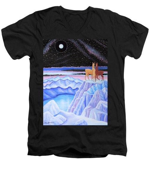 Dreamscape Men's V-Neck T-Shirt by Tracy Dennison