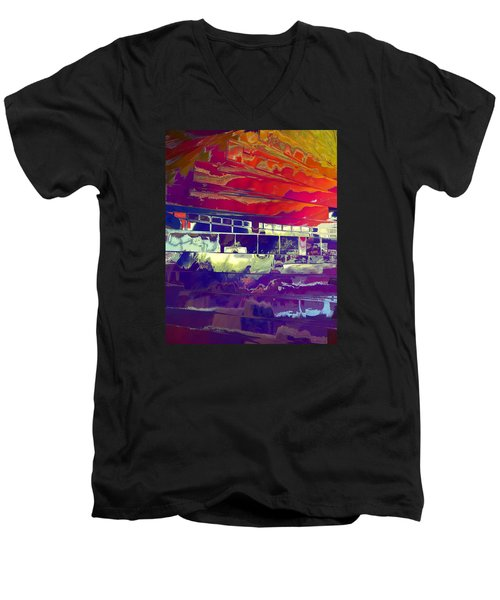 Dreamship Men's V-Neck T-Shirt by Alika Kumar