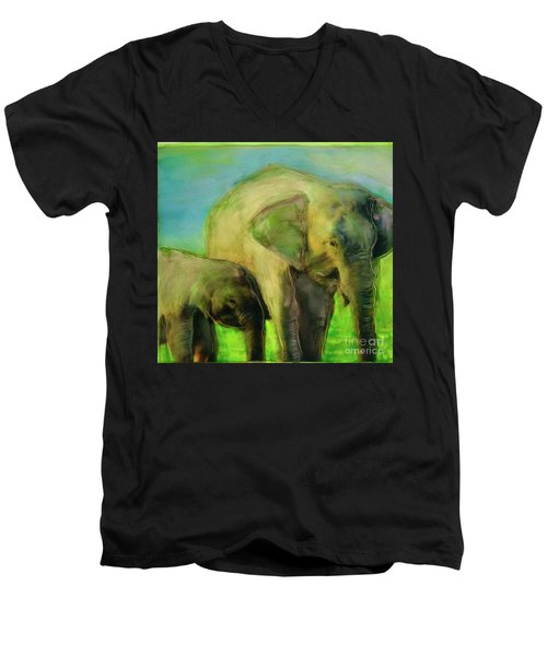 Dreaming Of Elephants Men's V-Neck T-Shirt