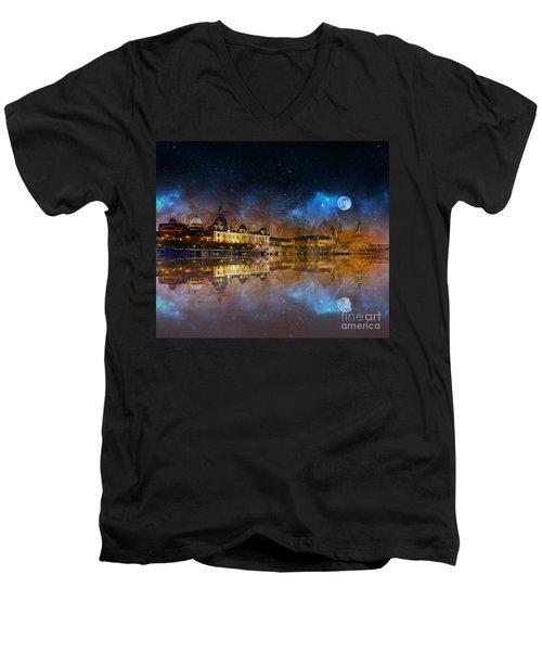 Dresden At Night Men's V-Neck T-Shirt