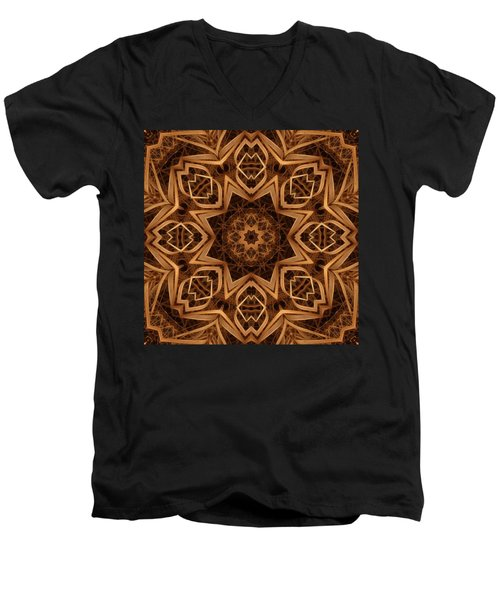 Dried Grass Mandala Men's V-Neck T-Shirt