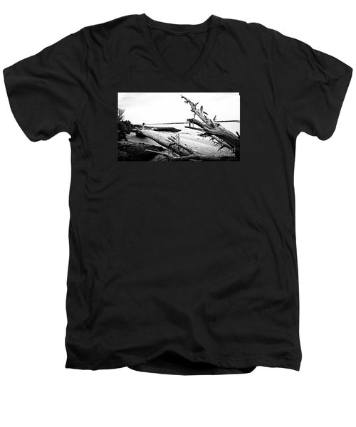 Men's V-Neck T-Shirt featuring the painting Drift  by Amy Sorrell