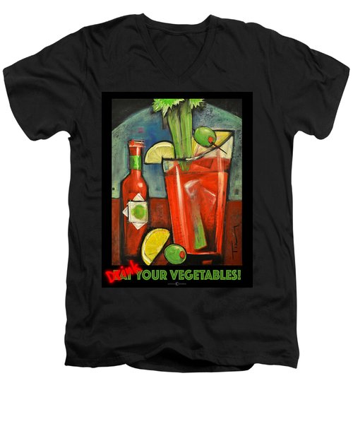 Drink Your Vegetables Poster Men's V-Neck T-Shirt by Tim Nyberg