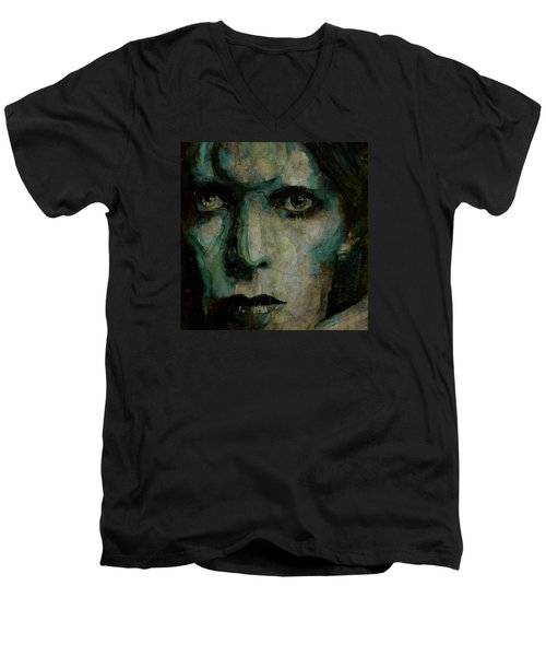 Drive In Saturday@ 2 Men's V-Neck T-Shirt by Paul Lovering