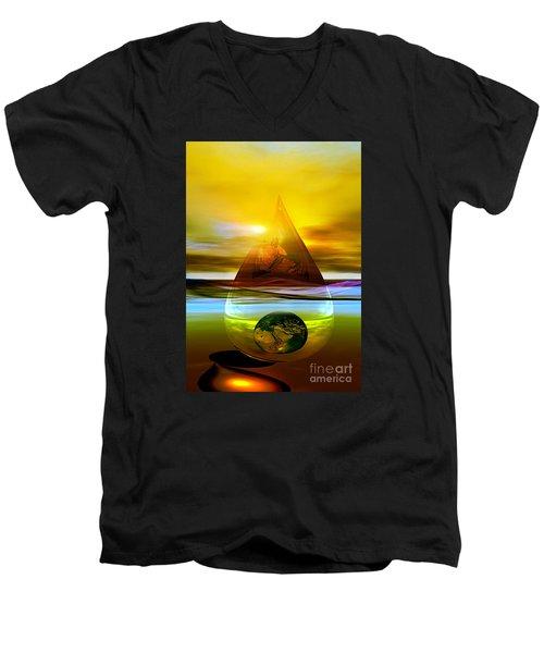 Drop Z Men's V-Neck T-Shirt by Shadowlea Is