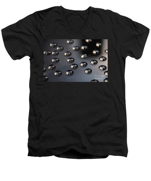 Drops Of Water -macro Men's V-Neck T-Shirt