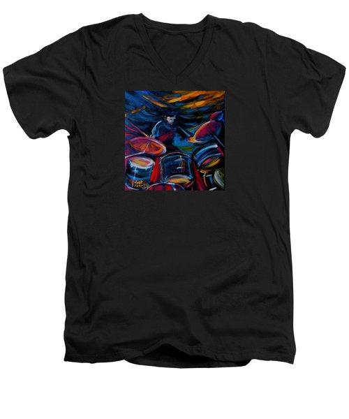 Drummer Craze Men's V-Neck T-Shirt