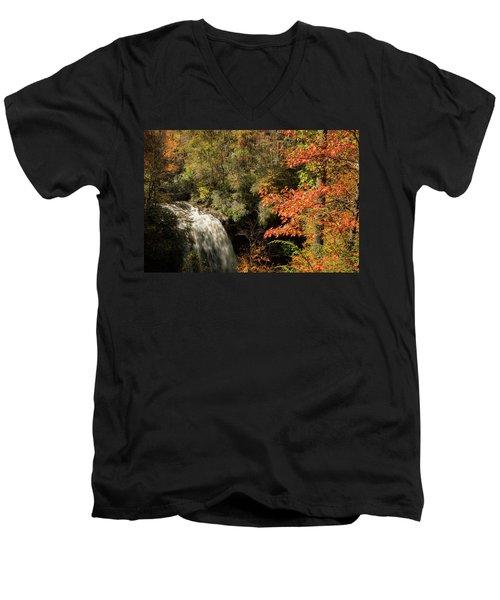 Dry Falls In North Carolina Men's V-Neck T-Shirt