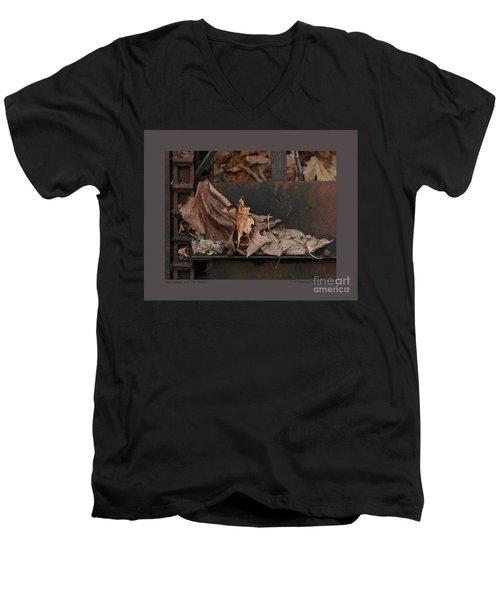 Dry Leaves And Old Steel-i Men's V-Neck T-Shirt