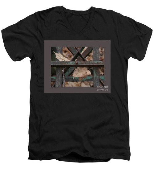 Dry Leaves And Old Steel-iii Men's V-Neck T-Shirt