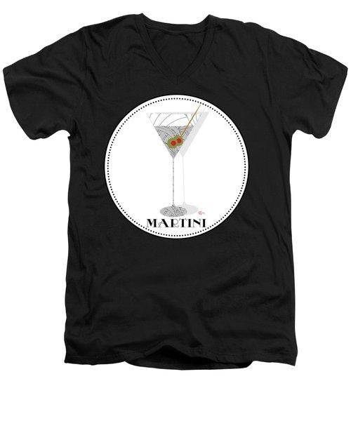 Dry Martini Cocktail Pop Art Deco Men's V-Neck T-Shirt