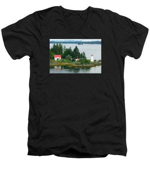 Dryad Point Lighthouse Men's V-Neck T-Shirt