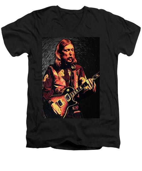 Duane Allman Men's V-Neck T-Shirt