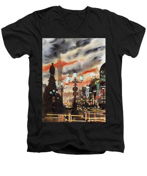 Dublin... The Ghost Of Nelson Men's V-Neck T-Shirt
