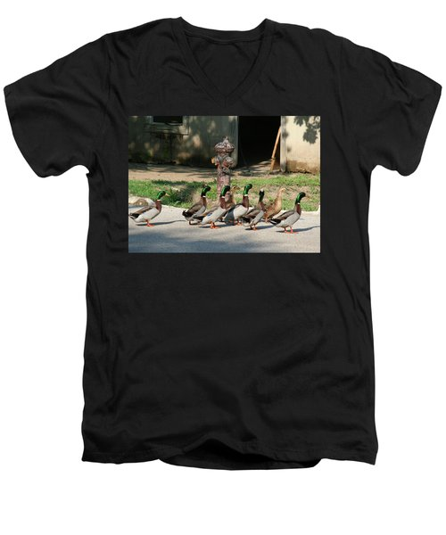 Duck And Hydrant Men's V-Neck T-Shirt