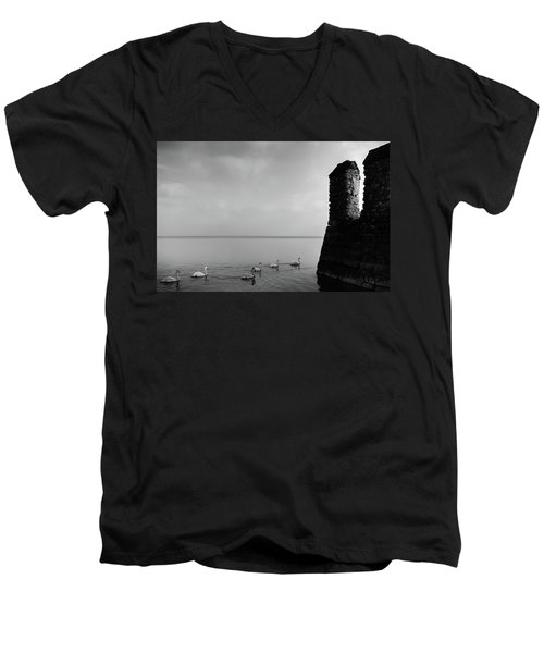 Ducks In Lake Garda, Italy Men's V-Neck T-Shirt