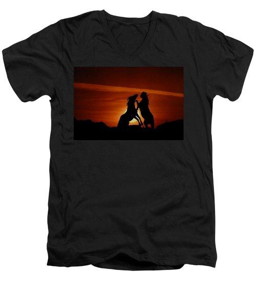 Duel At Sundown Men's V-Neck T-Shirt