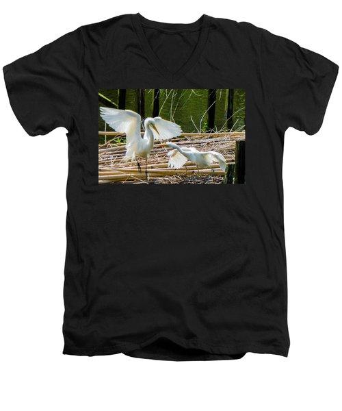 Dueling Bills Men's V-Neck T-Shirt by Kimo Fernandez