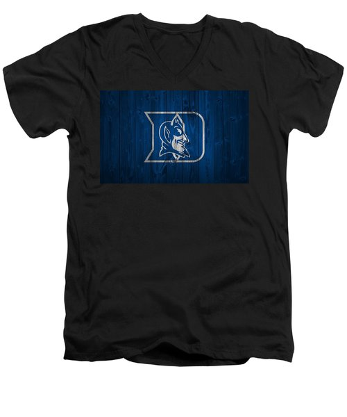 Duke Blue Devils Barn Door Men's V-Neck T-Shirt by Dan Sproul