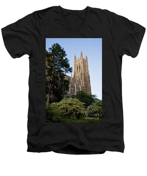 Duke Chapel Side View Men's V-Neck T-Shirt