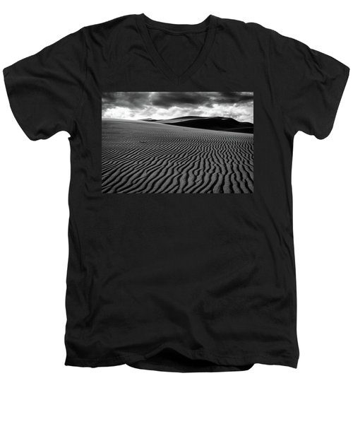 Men's V-Neck T-Shirt featuring the photograph Dune Lines by Stephen Holst
