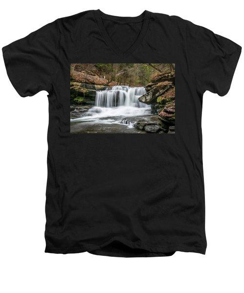 Dunloup Creek Falls Men's V-Neck T-Shirt