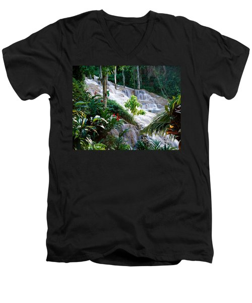 Dunn's River Falls Jamaica Men's V-Neck T-Shirt