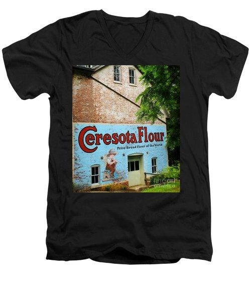 Durham Grist Mill Cerosota Flour Men's V-Neck T-Shirt