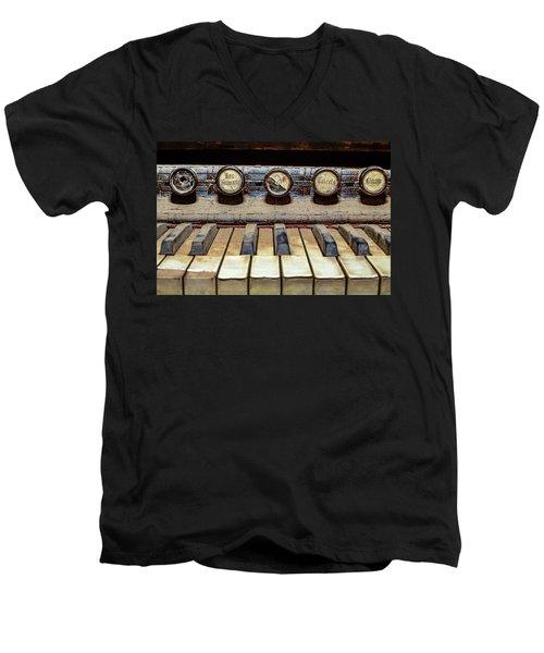 Dusty Old Keyboard Men's V-Neck T-Shirt