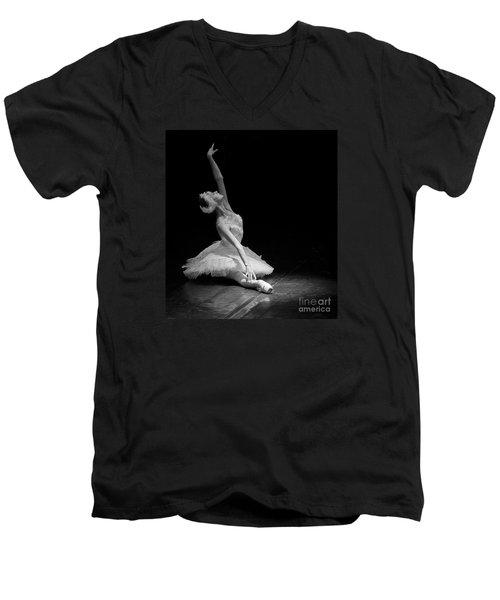 Dying Swan II. Men's V-Neck T-Shirt