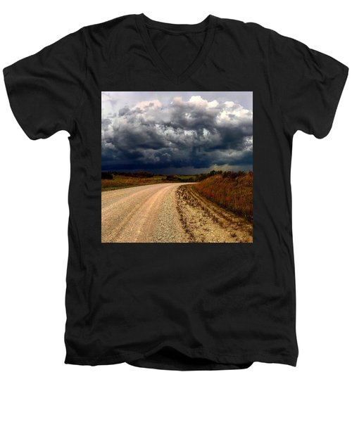 Dying Tornadic Supercell Men's V-Neck T-Shirt