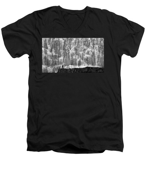 Men's V-Neck T-Shirt featuring the photograph Dynjandi Daredevil No. 2 by Joe Bonita
