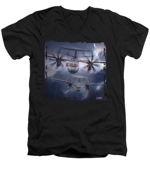 E2d Hawkeye Men's V-Neck T-Shirt