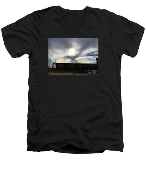 Eagle Cloud In The Carolina Sky Men's V-Neck T-Shirt