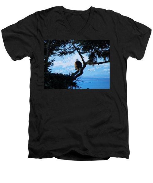 Eagle - Mt Baker - Eagles Nest Men's V-Neck T-Shirt