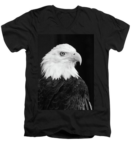 Men's V-Neck T-Shirt featuring the photograph Eagle Portrait Special  by Coby Cooper