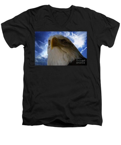 Eagle Men's V-Neck T-Shirt by Sherman Perry