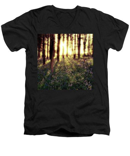Early Morning Amongst The Men's V-Neck T-Shirt by John Edwards