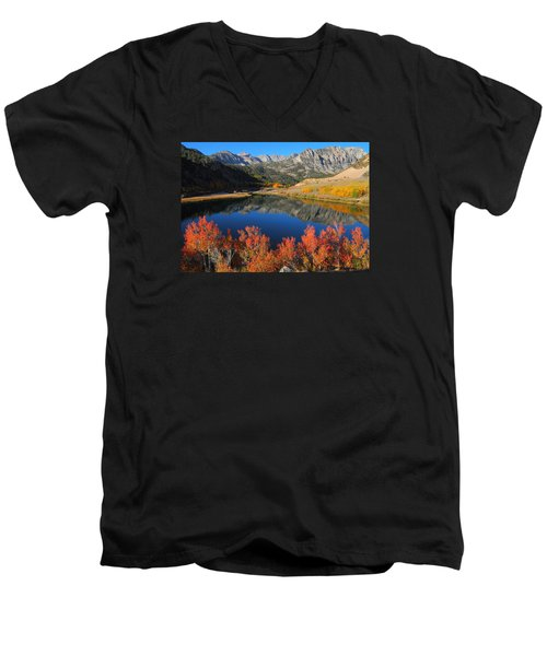 Early Morning At North Lake In Bishop Creek Canyon Men's V-Neck T-Shirt by Jetson Nguyen