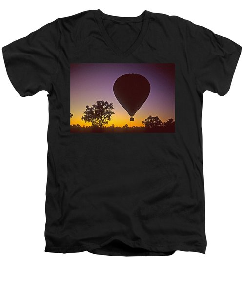 Early Morning Balloon Ride Men's V-Neck T-Shirt