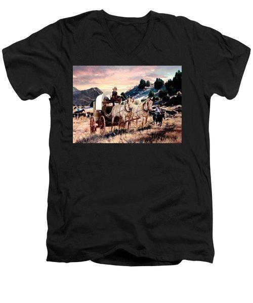 Early Morning Drive Men's V-Neck T-Shirt