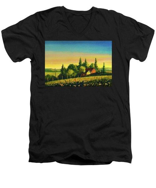 Early Morning Farmhouse Men's V-Neck T-Shirt